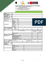 Formulario de presentación de experiencias para el  I Congreso Peruano de Educación Ambiental