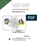 Module 1- Triangle Congruence