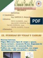 Fuerzas en Vigas y Cables