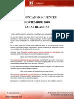 Preguntas Frecuentes Noviembre 2018 - Salas Blancas