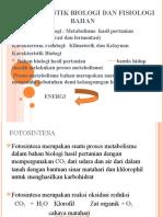 Karakteristik Biologi Dan Fisiologi Bahan