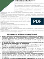 FUNDAMENTOS TEÓRICOS DA TEORIA PÓS-KEYNESIANA