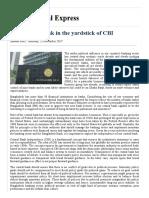 Bangladesh Bank in the Yardstick of CBI