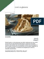 Tort de Morcovi Cu Glazura