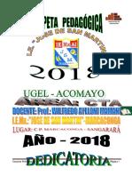 Carpeta Pedagógica 2018 i.e. Jsm - Marcaconga