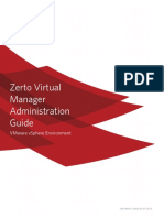 Zerto Virtual Manager VSphere Administration Guide
