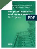 8145_CBRE European Commercial Real Estate Finance 2017_FINAL