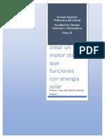 Primer Avance Motor Stirling Paralelo 3 Grupo 3,
