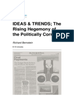 IDEAS & TRENDS; The Rising Hegemony of the Politically Correct Richard
