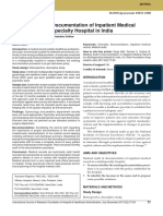 Medical Audit of Documentation of Inpatient Medical Record in a Multispecialty Hospital in India