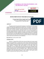 Bond Strength of the Brick Masonry_bond Strength of the Brick Masonry