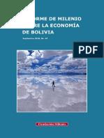 Informe de Milenio Sobre La Economía de Bolivia No. 40