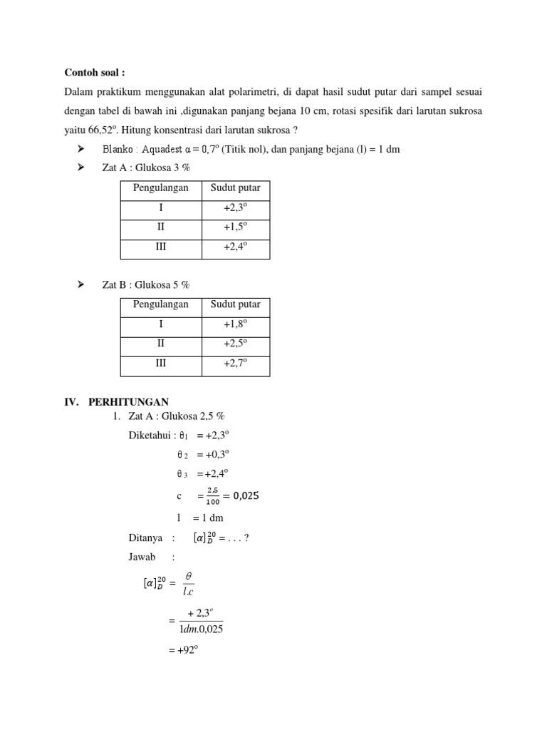 Contoh Soal Perhitungan Spektrofotometri Uv Vis Contoh Soal Terbaru