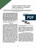 Open Loop Resonator Bandpass Filters Design