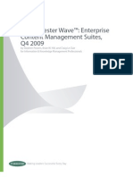 The Forrester Wave™ Enterprise Content Management (ECMS) Suites Report 2009