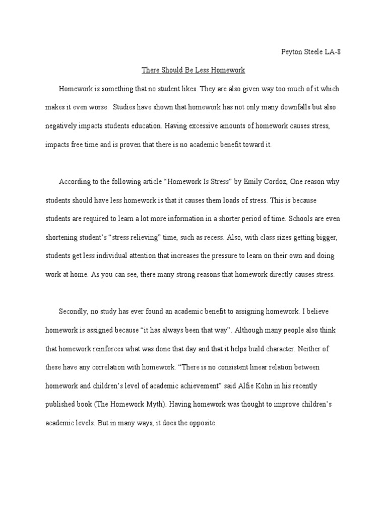 Thesis Statement For Argumentative Essay  High School Memories Essay also Essays On Business Ethics Less Homework Argumentative Essay  Homework  Learning Model Essay English