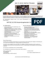 RUV Stellenausschreibung-SAP SD LE ED Anwendungsberater Inhouse