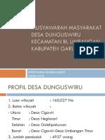 Musyawarah Masyarakat Desa Dunguswiru