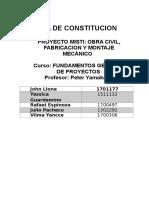 (1) Acta de Constitución del Proyecto