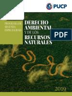 Programa de Segunda Especialidad en Derecho Ambiental 2019