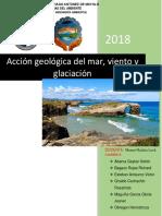 Acción Geológica de Los Glaciares