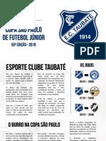 EC Taubaté - Copa São Paulo 2019