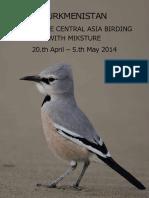 Tukmenistan Birding 2014
