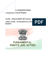 THE INDIAN CONSTITUTION    Foundation Course Project.docx