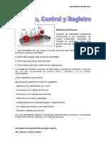 Proceso, Control y Registro