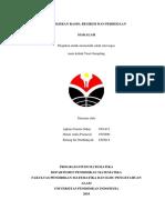 MAKALAH PENAKSIRAN RASIO, REGRESI & BEDA (FIX).docx