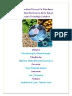 Caratula de Microbiologia