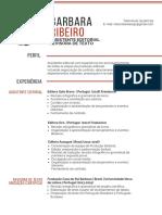 Currículo - Barbara Ribeiro