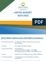 Fort St John Draft Capital Budget 2019-2023
