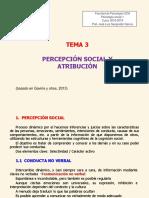 Tema 3. Percepción Social y Atribución