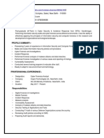 Cyber Security resume format