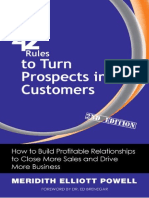 [42 Rules] Meridith Elliott Powell - 42 Rules to Turn Prospects Into Customers. How to Build Profitable Relationships to Close More Sales and Drive More... (2010, Happy About_Super Star Press)