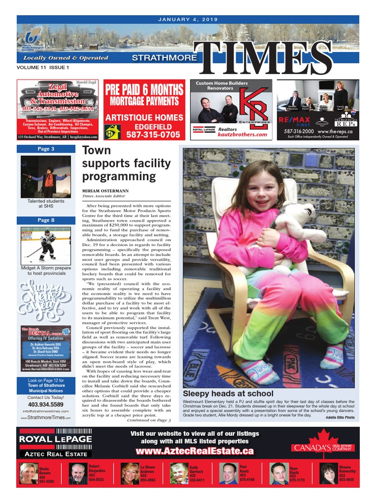 January 4, 2019 Strathmore Times