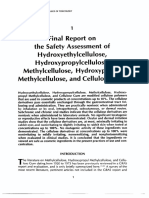 Final Report on the Safety Assessment of Hydroxyethylcellulose Hydroxypropylcellulose Methylcellulose Hydroxypropyl Methylcellulose and Cellulose Gum
