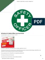 First Aid List