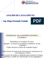 Analisis de Causa Efecto