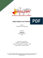 Exida Report - Final Element Configurations