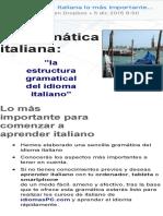 mi gramática italiana lo más importante en italiano