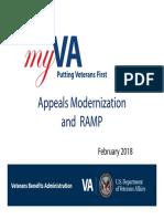 RAMP Rapid Appeals Modernization Program 2018