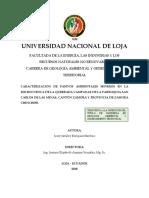Caracterización de Pasivos Ambientales Mineros en La Microcuenca Campanas Zamora-Enriquez Sánchez-2018