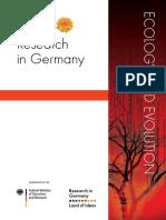 RiG DFG Ecology and Evolution 2018