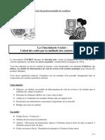 La Chocolaterie Cochet _ Calcul Des Coûts Par La Méthode Des Centres d Analyse