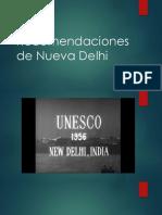 Recomendaciones de Nueva Delhi 1956