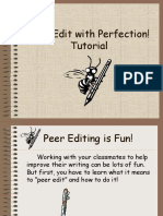 Peer Editing Tutorial