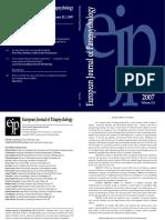 European Journal of Parapsychology v22-1 2007