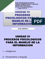 Psicologia General Uba Unidad IV